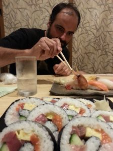 Maki no seafood, giant crevette for Simon!