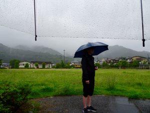 Nen under the rain!