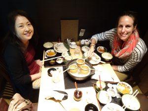 Saori et moi à la fondue shabu shabu