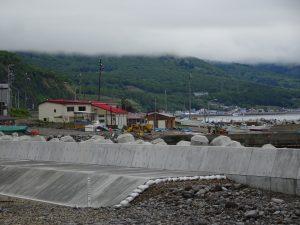 Village de onsen en bord de mer