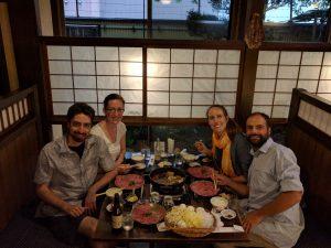 sukiyaki: genre de fondu chinoise, mais mille fois meilleur!